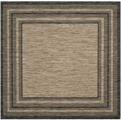 Rockbridge Natural/Black Indoor/Outdoor Area Rug Rug Size: Square 67