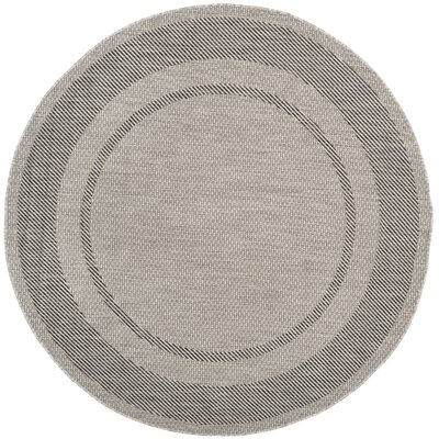 Rockbridge Beige/Black Indoor/Outdoor Area Rug Rug Size: Round 67