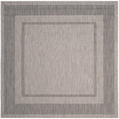 Rockbridge Beige/Black Indoor/Outdoor Area Rug Rug Size: Square 67