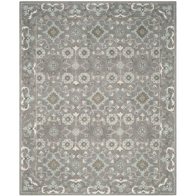 Kilbourne Hand-Tufted Gray Area Rug Rug Size: Rectangle 8 x 10