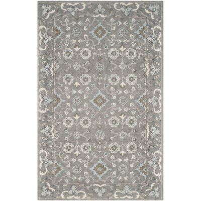 Kilbourne Hand-Tufted Gray Area Rug Rug Size: Rectangle 5 x 8