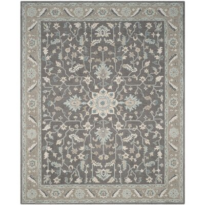 Kilbourne Hand-Tufted Dark Gray/Light Brown Area Rug Rug Size: Rectangle 8 x 10