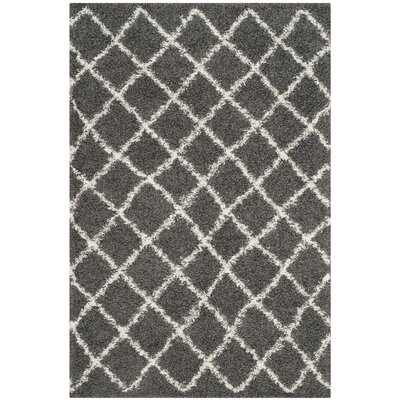 Laurelville Dark Gray/Ivory Area Rug Rug Size: Rectangle 51 x 76