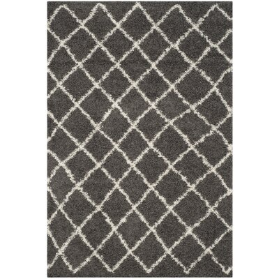 Laurelville Dark Gray/Ivory Area Rug Rug Size: Rectangle 6 x 9