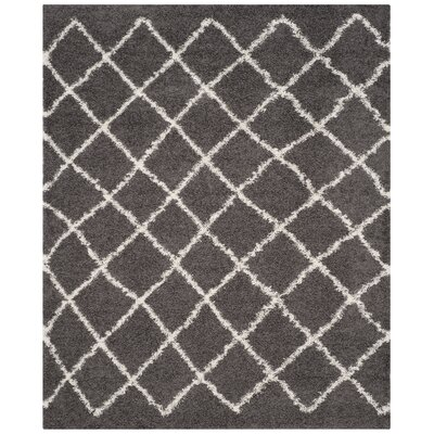 Laurelville Dark Gray/Ivory Area Rug Rug Size: Rectangle 8 x 10
