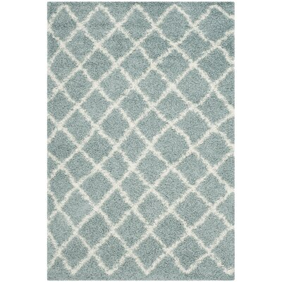 Laurelville Seafoam / Ivory Area Rug Rug Size: Rectangle 51 x 76