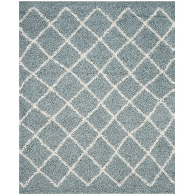 Laurelville Seafoam / Ivory Area Rug Rug Size: Rectangle 8 x 10