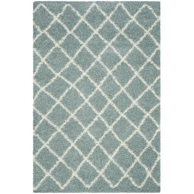 Laurelville Seafoam / Ivory Area Rug Rug Size: Rectangle 6 x 9