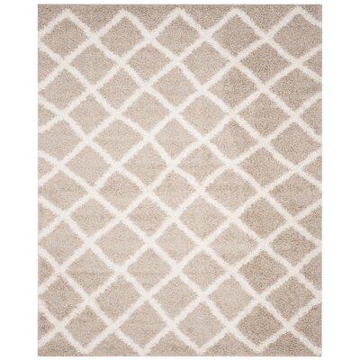 Laurelville Beige/Ivory Area Rug Rug Size: Rectangle 8 x 10