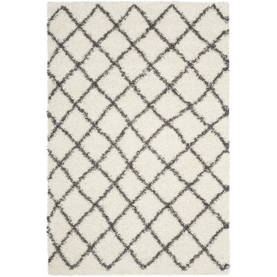 Laurelville Ivory / Dark Gray Area Rug Rug Size: Rectangle 51 x 76