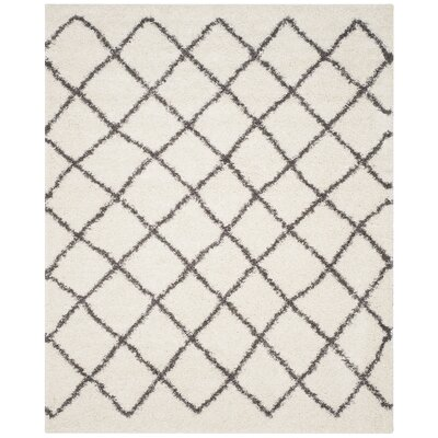 Laurelville Ivory / Dark Gray Area Rug Rug Size: Rectangle 8 x 10
