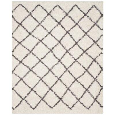 Laurelville Ivory / Dark Gray Area Rug Rug Size: Rectangle 8 x 10