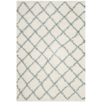 Laurelville Ivory / Seafoam Area Rug Rug Size: Rectangle 51 x 76