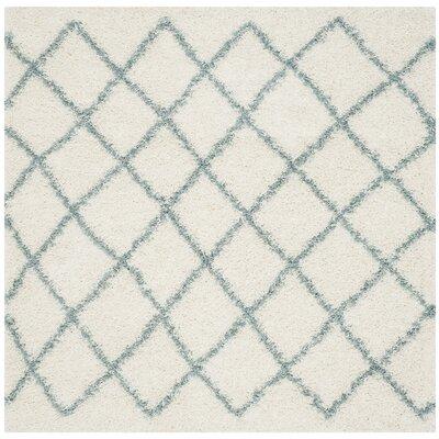 Laurelville Ivory / Seafoam Area Rug Rug Size: Square 6