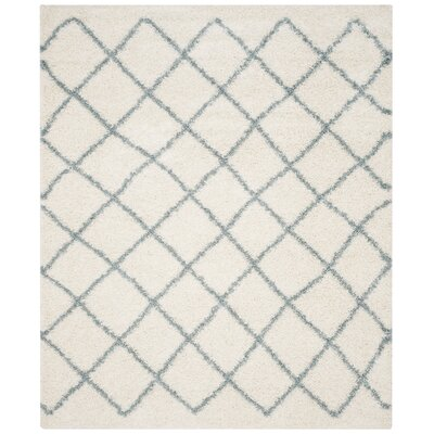 Laurelville Ivory / Seafoam Area Rug Rug Size: Rectangle 8 x 10