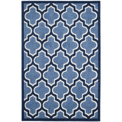 Amherst Light Blue/Navy Indoor/Outdoor Area Rug Rug Size: Rectangle 5 x 8