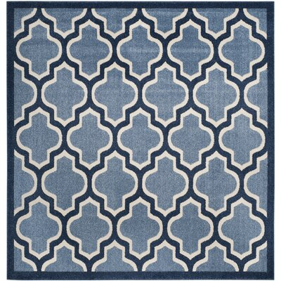Amherst Light Blue/Navy Indoor/Outdoor Area Rug Rug Size: Square 7