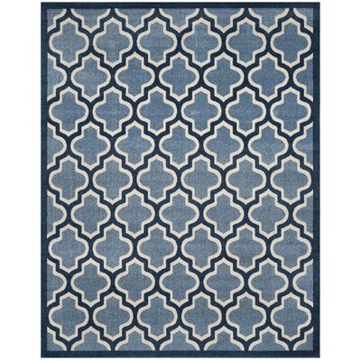 Amherst Light Blue/Navy Indoor/Outdoor Area Rug Rug Size: Rectangle 8 x 10