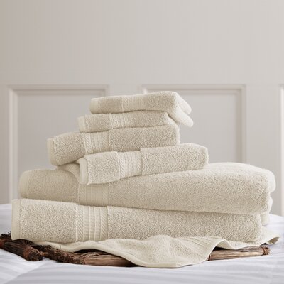 6 Piece Towel Set Color: Ivory