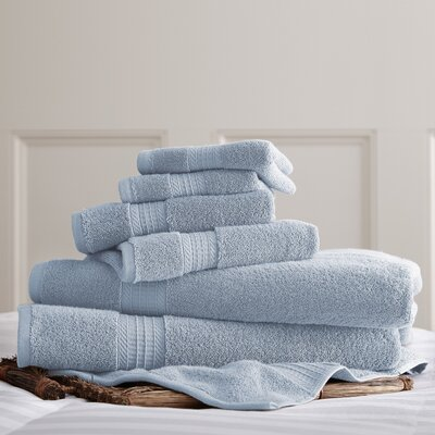 6 Piece Towel Set Color: Light Blue