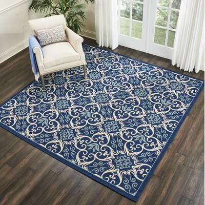 Carleton Navy Indoor/Outdoor Area Rug Rug Size: Square 710