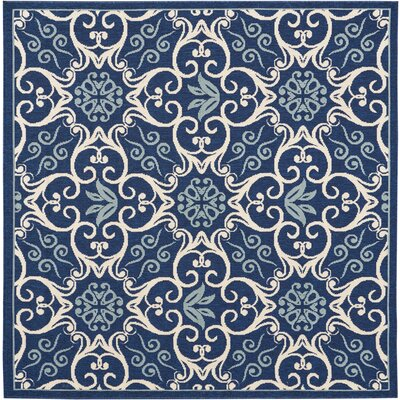 Carleton Navy Indoor/Outdoor Area Rug Rug Size: Square 53