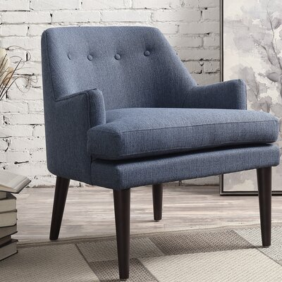 Appaloosa Mid Century Accent Armchair Upholstery: Navy Blue