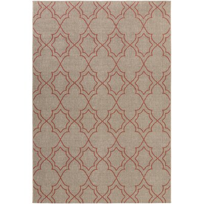 Amato Beige/Red Indoor/Outdoor Area Rug Rug Size: Rectangle 76 x 109