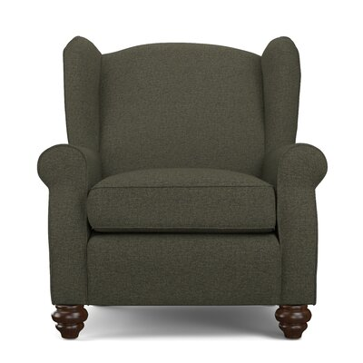 Roselle Wingback Chair and Ottoman Upholstery: Basil Green