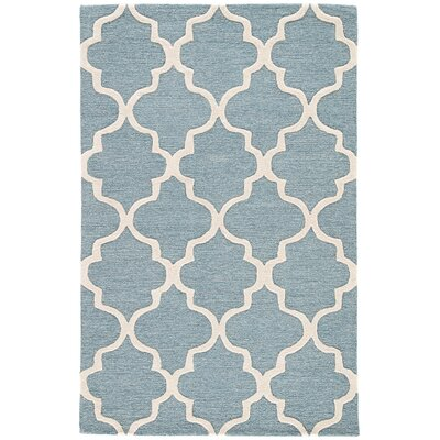 Felix Blue / Ivory Geometric Area Rug Rug Size: Rectangle 8 x 11