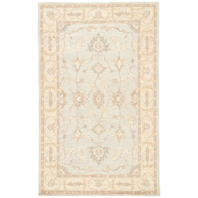 Aukerman Hand-Tufted Eggshell Blue/Moon Beam Area Rug Rug Size: Rectangle 5 x 8