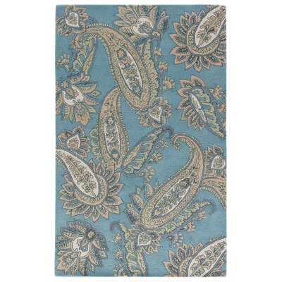 Farnsworth Hand-Tufted Smoke Blue/Candied Ginger Area Rug Rug Size: Rectangle 2 x 3