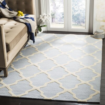 Sugar Pine Hand-Tufted Blue/Ivory Area Rug Rug Size: Rectangle 5 x 8