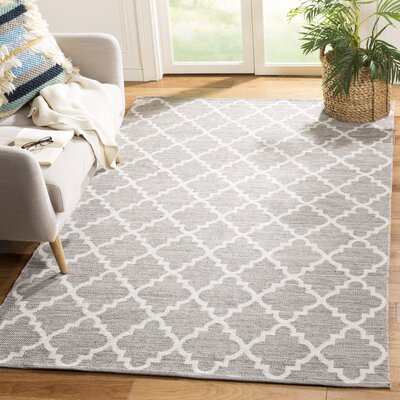 Valley Hand-Woven Gray/Ivory Area Rug Rug Size: Rectangle 5 x 8