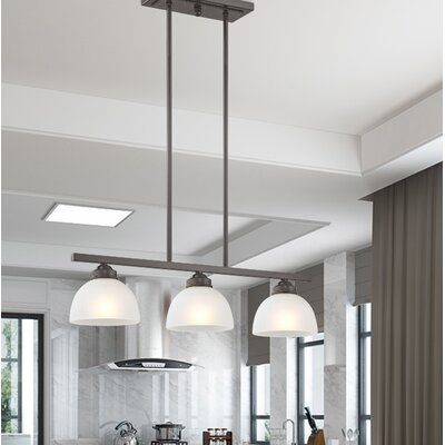 Irwin 3-Light Kitchen Island Pendant Finish: English Bronze