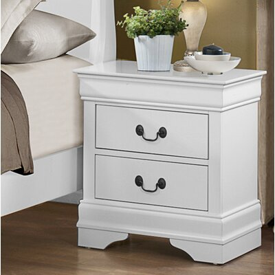 Waynesburg 2 Drawer Nightstand Color: White
