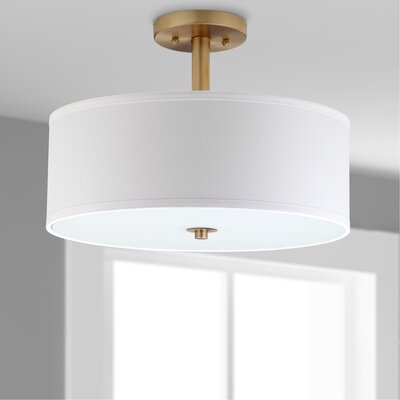 Walker 3-Light Semi Flush Mount