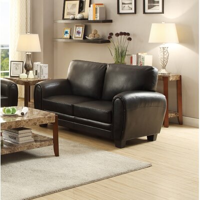 Leith Loveseat Upholstery: Black