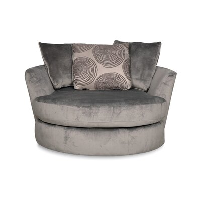 Leesburg Swivel Barrel Chair Upholstery: Smoke