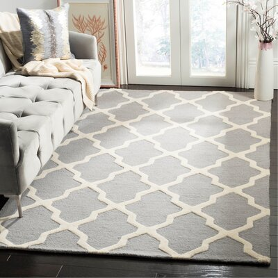 Sugar Pine Hand-Tufted Gray Area Rug Rug Size: Rectangle 5 x 8