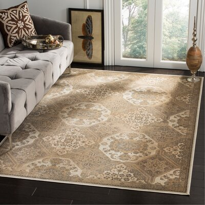 Pitcairn Brown/Cream Area Rug Rug Size: Rectangle 53 x 76