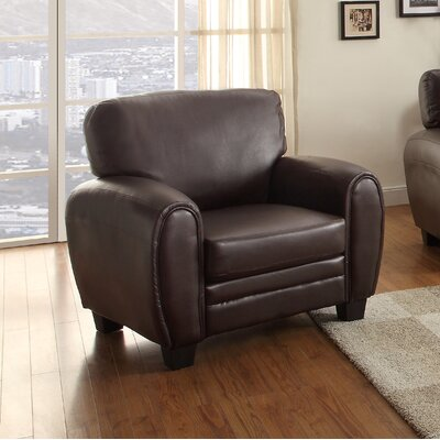 Leith Armchair Upholstery: Dark Brown