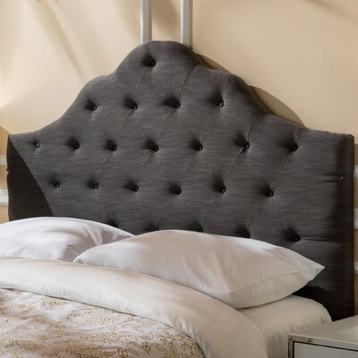 Harbert Queen Upholstered Panel Headboard Upholstery: Gray