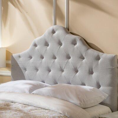 Harbert Queen Upholstered Panel Headboard Upholstery: Light Gray