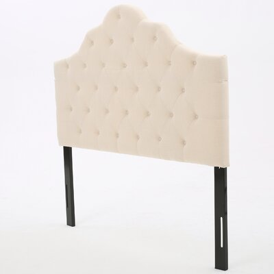 Harbert Queen Upholstered Panel Headboard Upholstery: Beige