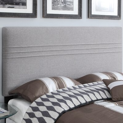 Amenia Upholstered Panel Headboard Size: Full/Queen, Upholstery: Hayden Silver