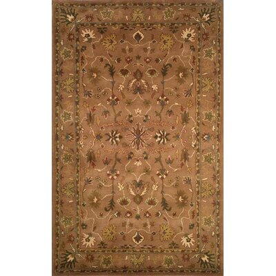 Eugenie Oushak Hand Tufted Wool Brown Area Rug Rug Size: Rectangle 36 x 56