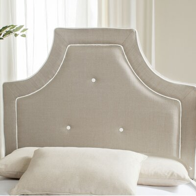 Ottoville Upholstered Panel Headboard Size: Full, Color: Smoke / White