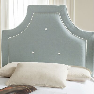 Ottoville Upholstered Panel Headboard Size: Full, Color: Sky Blue / White