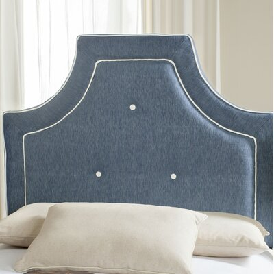 Ottoville Upholstered Panel Headboard Size: King, Color: Navy / White